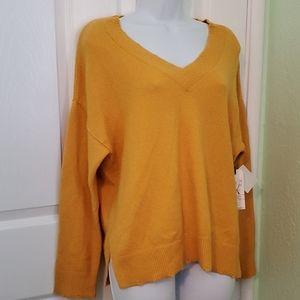 Melrose and Market distressed v neck sweater